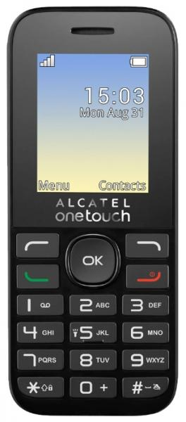 Телефон Alcatel Alcatel One Touch 1020D Volcano Black