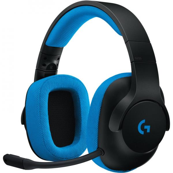 Logitech G233 Prodigy Wired Gaming Headset Black/Cyan (981-000703)